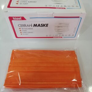 cerrahi maske renkli maske üç katlı maske 3 katlı maske telli maske